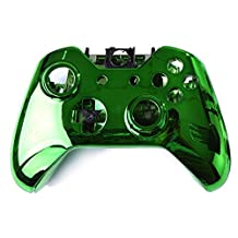Kobwa Wireless Controller Replacement Mod Kit Plating Shell Case for Xbox One Wireless Controller Chrome Green