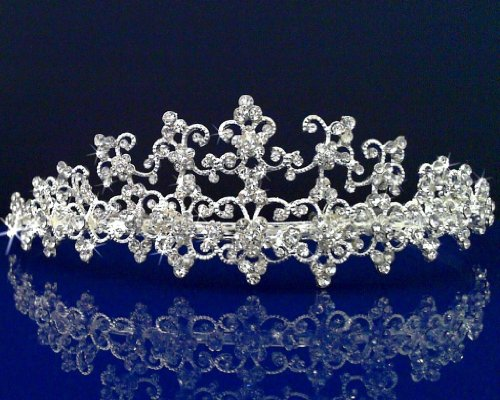 SparklyCrystal Rhinestone Bridal Wedding Prom Tiara Crown 72856 by SparklyCrystal