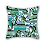 NICEPLW pillowcover of geometry 16 x 16 inches / 40 by 40 cm,best fit for sofa,club,christmas,deck chair,couples,bedding each side