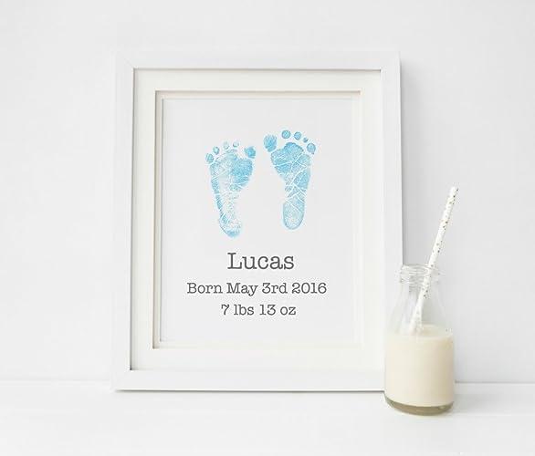 amazon com birth announcement art new born baby boy gift baby