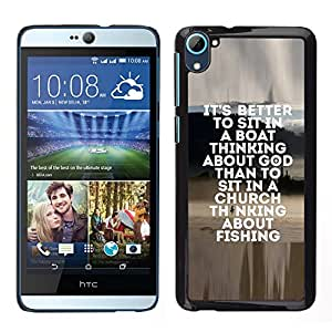 [Neutron-Star] Snap-on Series Teléfono Carcasa Funda Case Caso para HTC Desire D826 [Fishing Seaman God Christian Hobby Fun]