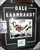 DALE EARNHARDT SR NASCAR AUTOGRAPHED HUGE 20X24 DOUBLE MATTED & FRAMED W/ JSA COA