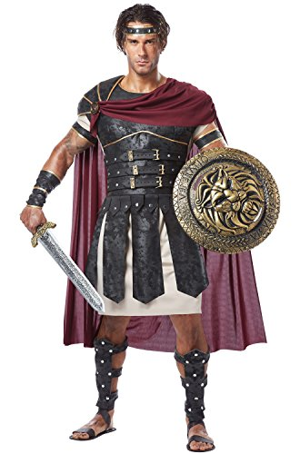 Mens Greek Halloween Costumes (California Costumes Men's Roman Gladiator Adult, Black/Burgundy,)