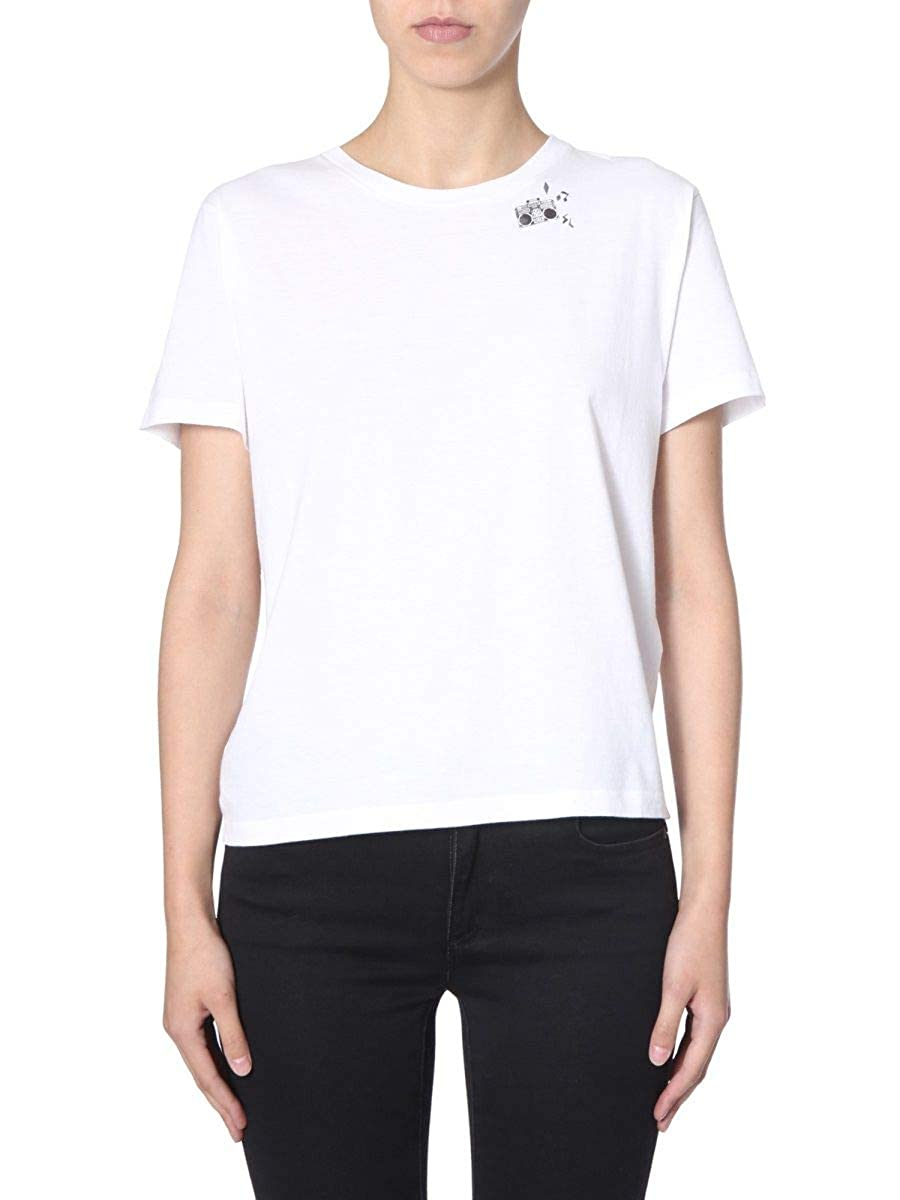 98bbb8e452945 Amazon.com: Saint Laurent Women's 579028Ybll29744 White Cotton T ...