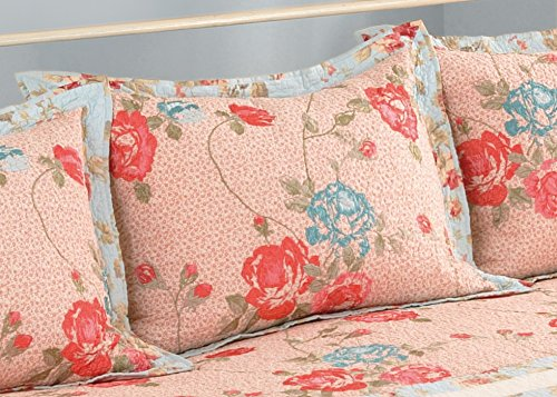 Modern Heirloom Collection Raquel Cotton Quilted Standard Sham, 20 by 26 Inch - Pillow Shams ...