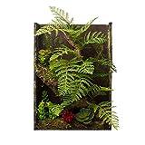Artificial Moss Plants 3D Frames Succulent Flowers Wall Office Home Bathroom Decoration (Choc)
