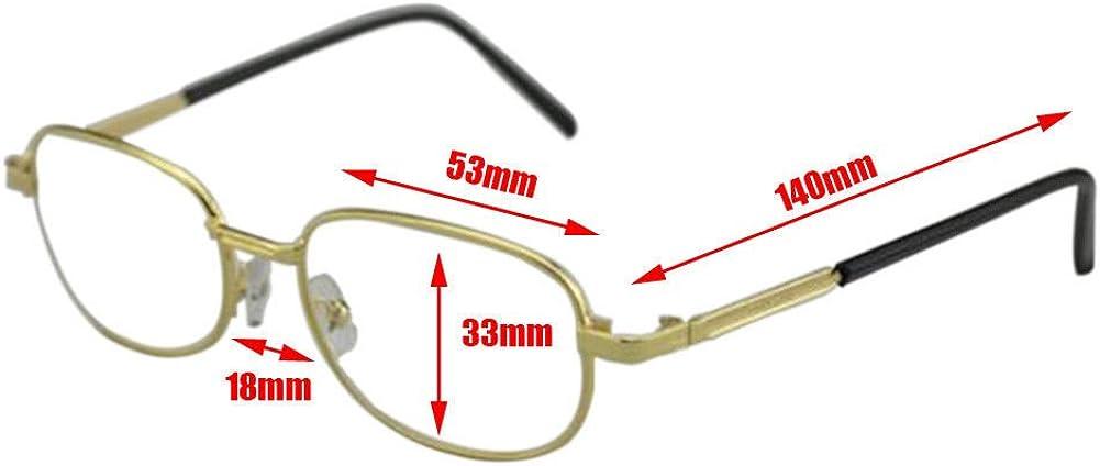 Meijunter Damen Herren Lesebrille Harz Linse Mode Metall Rahmen Lesen Brille Hoch St/ärke 4.5 5.0 5.5 6.0