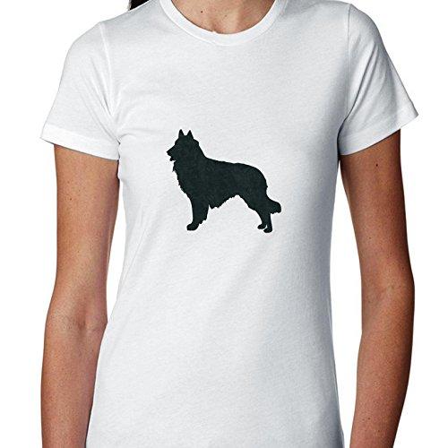 Belgian Tervuren Dog Simple Silhouette 100% Women's Cotton T-Shirt ()
