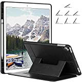 Ztotop Case for iPad Pro 12.9 Inch 2017/2015 - with Pencil Holder, Multiple Viewing Angles Slim Lightweight Soft TPU Back Cover, Protective Cover for iPad Pro 12.9 Inch,Black