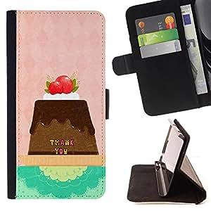 Jordan Colourful Shop - FOR Sony Xperia Z3 D6603 - thank you - Leather Case Absorci¨®n cubierta de la caja de alto impacto