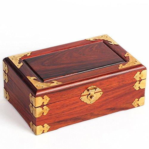 Mahogany jewelry box Rosewood wood Dresser Storage Box offer a brass padlock wedding ()