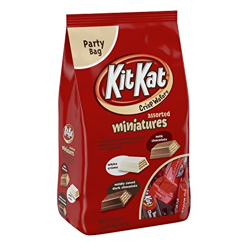 KIT KAT Chocolate Bars Miniatures, 36oz (White, Milk and Dark Chocolate)