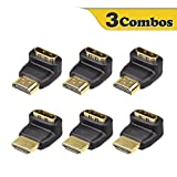 VCE 3 Combos 3D&4K Supported HDMI 90 Degree and 270 Degree Male to Female Adapter