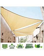 ColourTree Custom Size Order to Make Sun Shade Sail Canopy Mesh Fabric UV Block Right Triangle - Commercial Standard Heavy Duty
