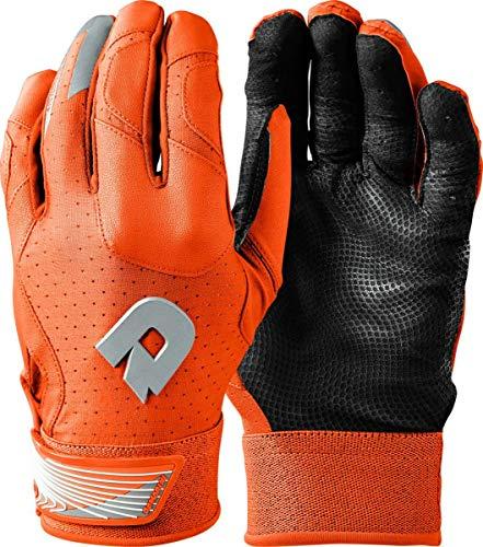 DeMarini CF Batting Gloves, Orange - Youth Large
