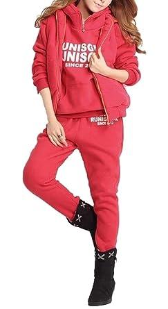 BingSai - Chándal - para Mujer Rojo Rosso XS: Amazon.es: Ropa y ...