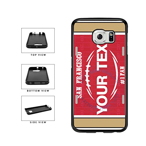 (BleuReign(TM) Personalized Custom Name Football San Francisco License Plate TPU RUBBER SILICONE Phone Case Back Cover For Samsung Galaxy S7 Edge)