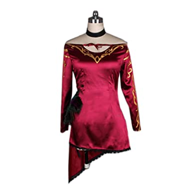 0294f4bb1 Hotwinds Cinder Fall Costume RWBY Cosplay Deluxe Womens Sexy Red Dress S