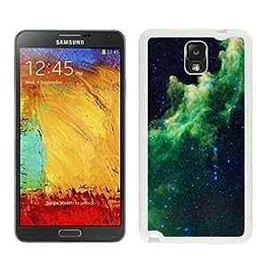 Cool White TPU Samsung Note 3 Case Nebula Galaxy Durable Silicone Slim Phone Cover