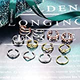Jstyle 12Pcs Adjustable Toe Rings for Women Various Types Band Open Toe Ring Set Women Summer Beach Jewelry