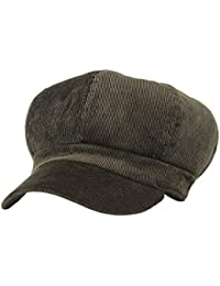 7bc8b2a2482 Women Corduroy 8 Panel Newsboy Cabbie Cap Peaked Beret Hat