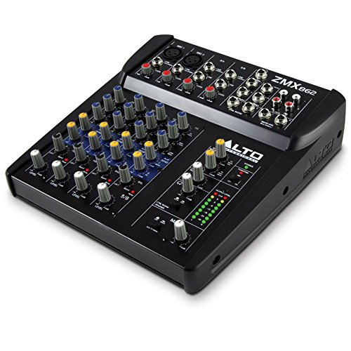 Alto Professional ZMX862 | 6-Channel 2-Bus Mixer with 12 Inputs, 3-Band EQ per Channel & +48V Phantom ()