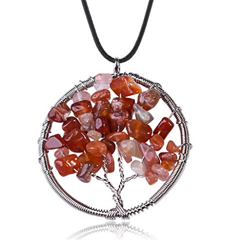 Western Costumes Company Ruby Slippers (Natural Carnelian Tree Of Life Pendant Necklace Handmade Necklace)
