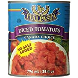 Italpasta No Salt Diced Tomatoes, 796ml