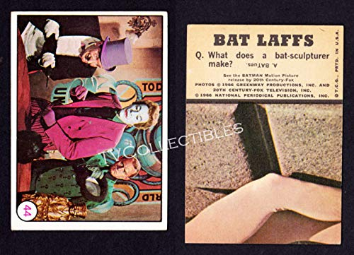 Trading Card #44~ TV's Batman ~Topps Bat Laffs ~1966 ~Penguin ~Joker ~Riddler