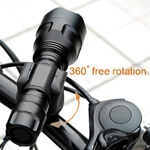 Shells Latest Version Most Convenient Black Bicycle Flashlight Mounting Bracket Speaker Clamp Holder For Bike (Bracket Speakers Mounting Accessories)