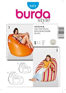 Awe Inspiring Amazon Com Burda Homeware Beanbag Chair Sewing Pattern Gmtry Best Dining Table And Chair Ideas Images Gmtryco