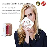 Leather Credit Card Wallet With Zipper Travel Wallet Credit Card Holder, Cute Wallets For Girls Women (white)