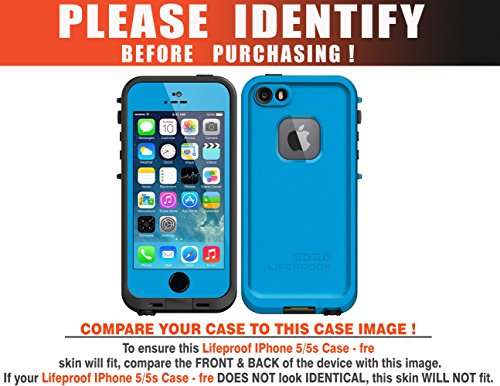"Decalrus - TITANIUM Texture Brushed Aluminum Protective Vinyl Skin Decal for LifeProof fre ""fre"" iPhone 5 5S case cover wrap BALifeproofFREIphn5Titanium"
