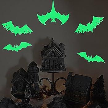 Amazon.com: Six Large Bats Wall Decals Halloween ...