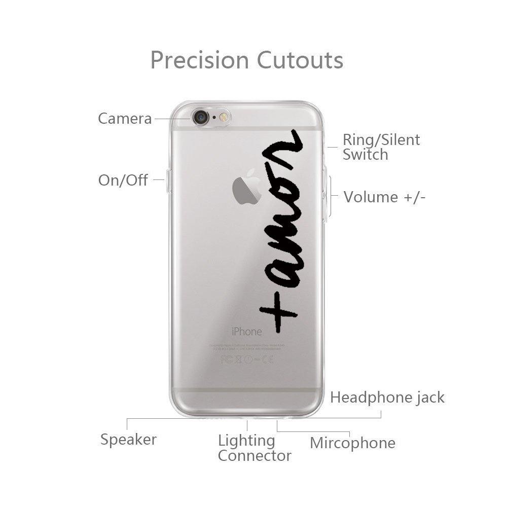 Teryei/® Compatible con Funda iPhone 6 Plus Anti-Scratch Full Protecci/ón Transparente Suave Caso Cover Anti-ara/ñazos Choques para iPhone 6 Plus 6S Plus 6S Plus Silicona TPU Carcasa Ultra Slim