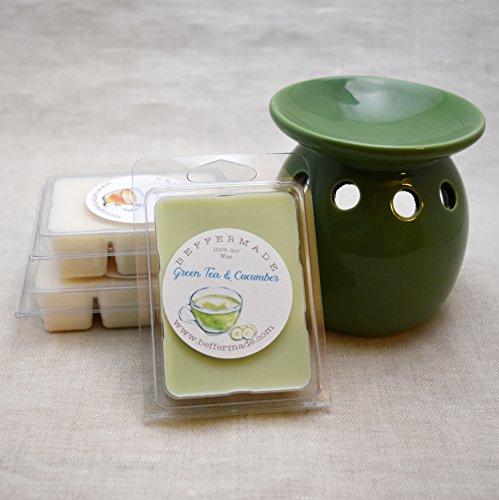 White Tea, Green Tea, and Three Wishes Tea 3pk Scented Wax M