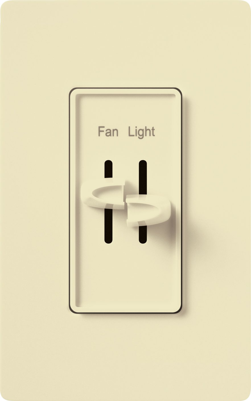 Lutron Skylark Fan Control and Light Dimmer for Incandescent and Halogen Bulbs, Single-Pole, S2-LF-AL, Almond Lutron Electronics Company Inc. LU S2-LF-AL