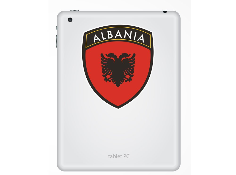 2/x Pegatinas de vinilo de dise/ño de la bandera de Albania equipaje de viaje # 10667