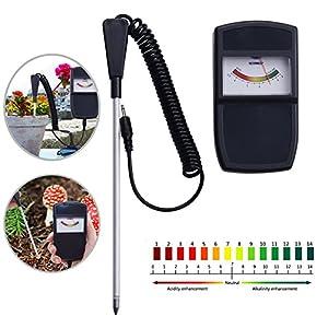 Ywillink Soil PH Measuring Instrument Tester for Farm Plants Crops Flowers Vegetable