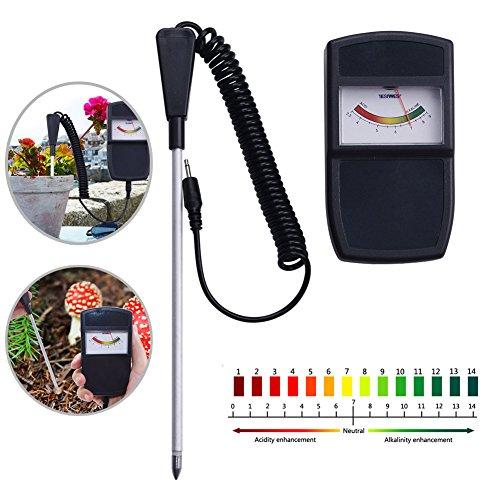 YWILLINK Soil PH Measuring Instrument Tester Meter for Farm Plants Crops Flowers Vegetable (1pc)