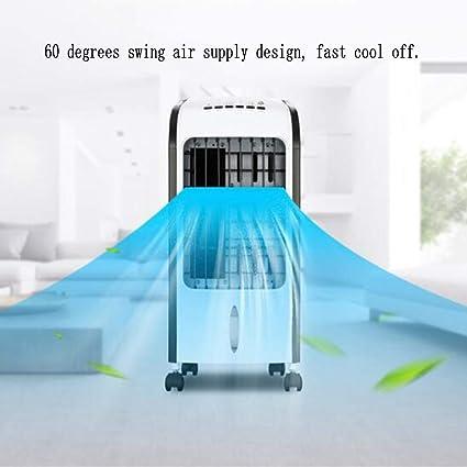 FDURU Enfriador de Aire Climatizador Acondicionado Pequeña Portátil Humidificador Ventilador Casa Silencio Evaporador Enfriador Móvil Temporizador de 7 Horas: Amazon.es: Deportes y aire libre