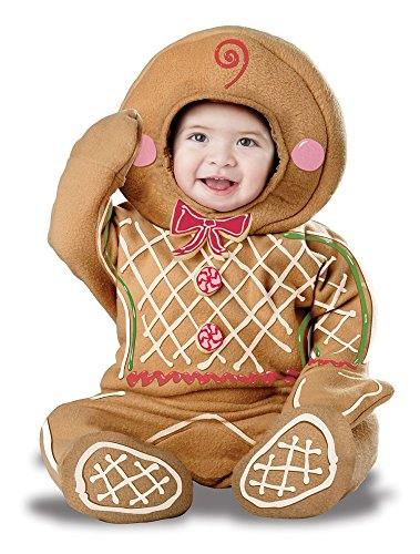 California Costumes Baby-Boys Infant Gingerbread Man, Brown, Medium (12-18 Months)]()
