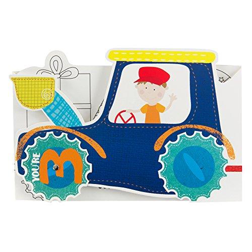Hallmark Birthday Card For Boy 'Fold Out Tractor' - Medium