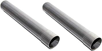 Galvanized Steel Universal Exhaust Resonator Pipe 2.5ID x 18 Length straight