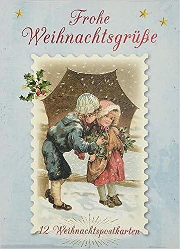Frohe Weihnachtsgrüße.Frohe Weihnachtsgrüße 12 Weihnachtskarten Amazon De Kaufmann