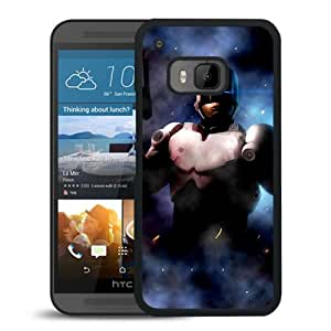 Beautiful And Unique Designed With Police Robot Cyborg Weapons Fog For HTC ONE M9 Phone Case