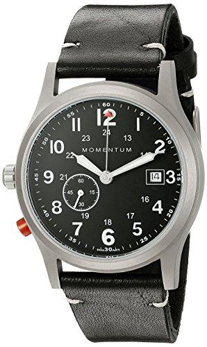 Momentum Men's 1M-SP60B2B Pathfinder III Analog Display Swiss Quartz Black Watch