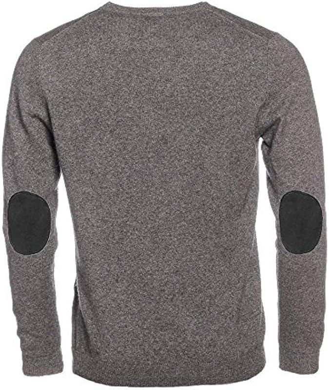 L. BO pullovers, łokieć Cozy: ciemny szarą okrągłe wycięcie pod szyją zimowy pulower z łatek w rÓżnych kolorach, kolor: czarny , rozmiar: s: Odzież