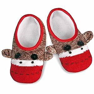Sock Monkey Knit Footie Slipper Socks