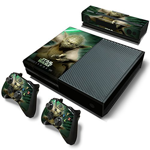 FreeSticker Designer Skin Game Console System plus 2 Controller Decal Vinyl Protective Covers Stickers f MICROSOFT XBOX ONE STAR WARS GALAXY FORCE JEDI MASTER YODA EPISODE 3